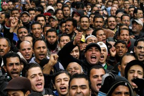 Port said protest