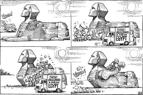 Egypt's sisi Cartoon