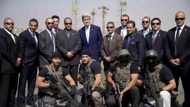 Kerry with Egypt special forces