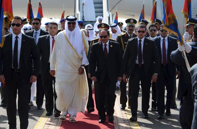Qatari emir in Egypt