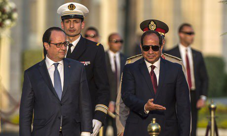 France Hollande in Egypt