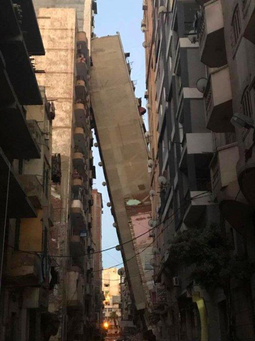 Alexandria collapsed building