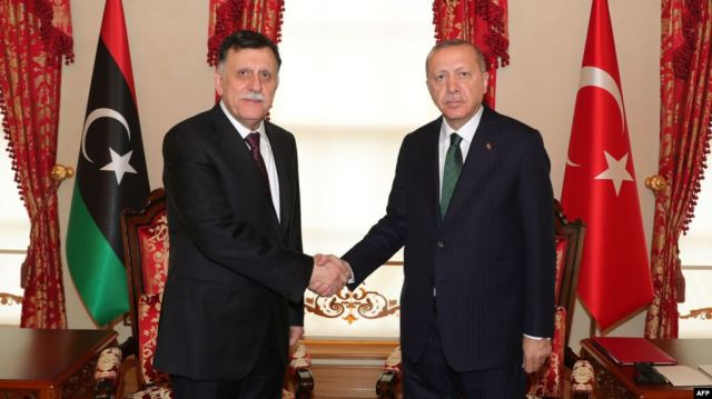 Erdogan and Sarraj photo