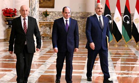 Sisi Haftar Aqila Saleh